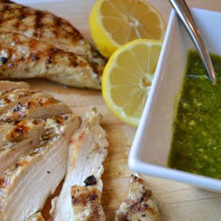 Grilled Chicken with Hazelnut Pesto