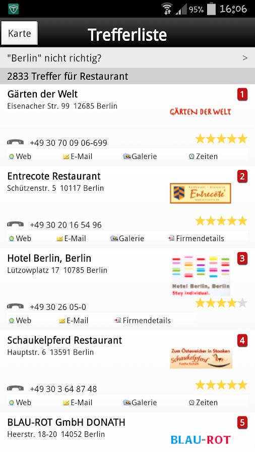 Das Telefonbuch – lokale Info - screenshot