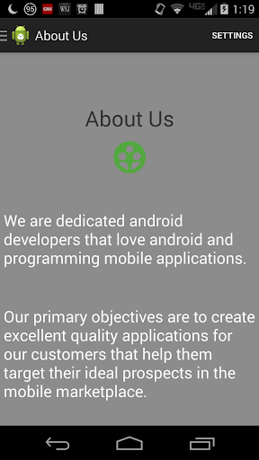 Main Line Android Example App