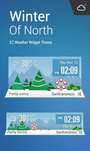 凜冬將至﹣卡通時鐘天氣小工具﹣輕鬆天氣,最贊的天氣小工具!