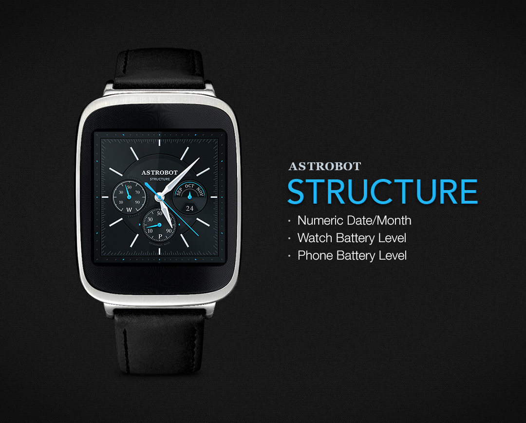 Structure watchface by Astrobot- screenshot