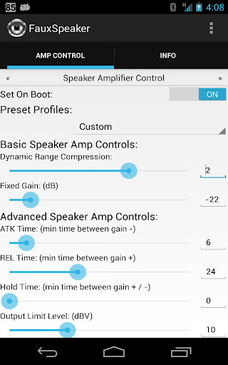 Speaker Loudness Amp Control