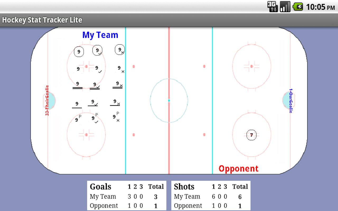 Hockey Stat Tracker Lite- screenshot