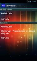 Screenshot of MhtViewer