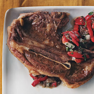 Lamb Chops with Roasted-Eggplant Relish