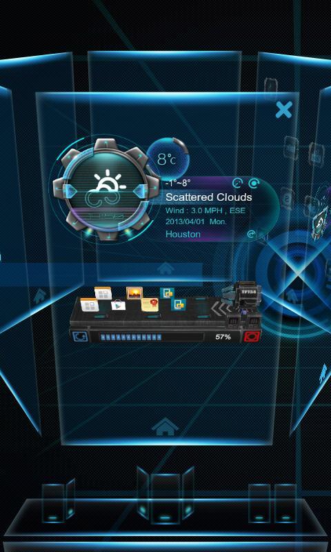 Ray Next Launcher 3D Theme - screenshot