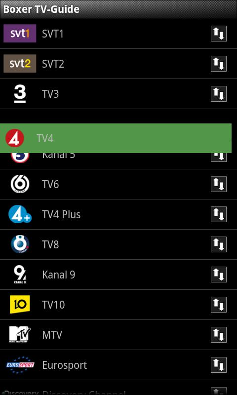 Boxer TV Guide SE- screenshot