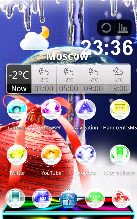 NEXT LAUNCHER NEW YEAR THEME- screenshot