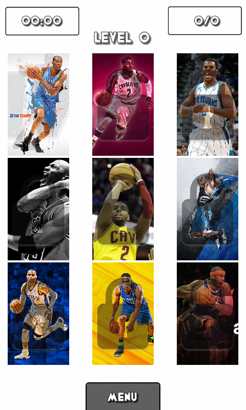 Basketball All Stars Puzzle - screenshot