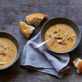 Roasted-Potato Cheddar Soup.