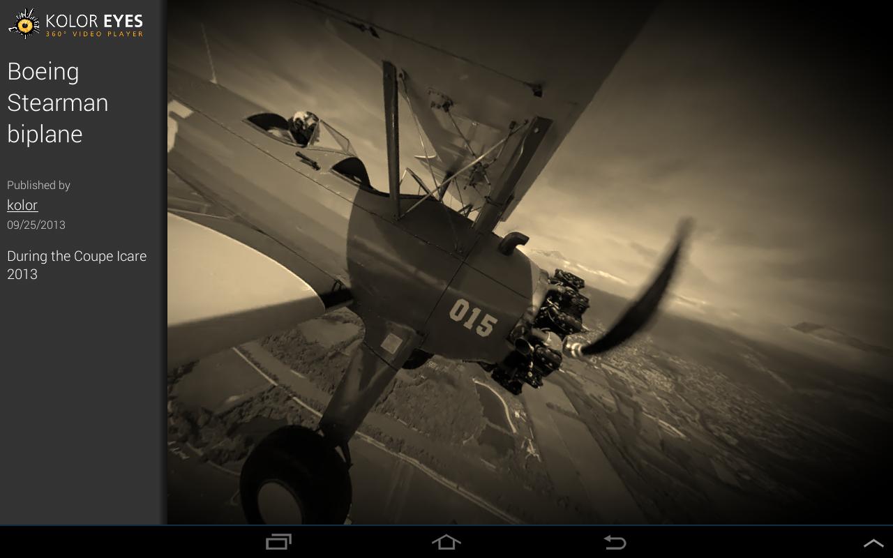 Kolor Eyes 360° video player - screenshot