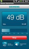 Screenshot of Siemens silencePower dB meter
