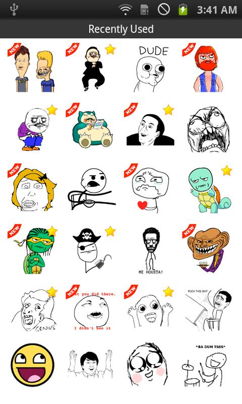 SMS Rage Faces - screenshot