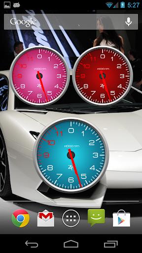 Color Tachometer Clock Set 2