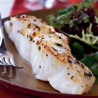 Broiled Sea Bass with Pineapple-Chili-Basil Glaze