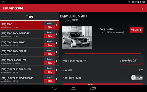 La Centrale voiture occasion - screenshot thumbnail