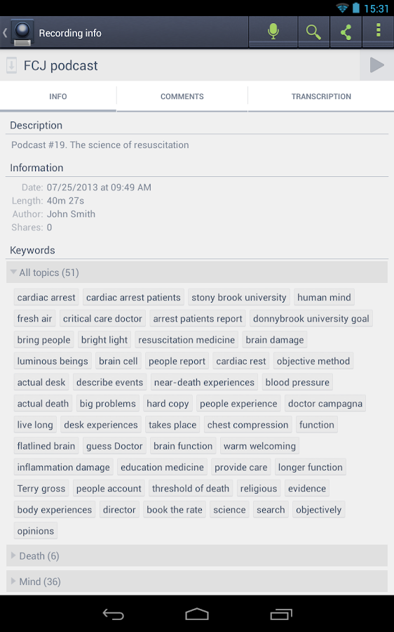 VoiceBase- screenshot