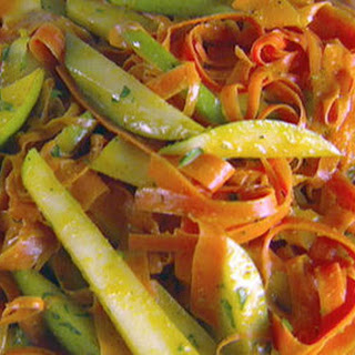 Shaved Carrot and Pear Salad with Curry Vinaigrette Recipe