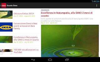 Screenshot of Scuola Simo