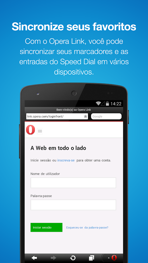 Navegador da Web Opera Mini - screenshot