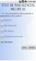 Screenshot of Teste Inteligências Múltiplas