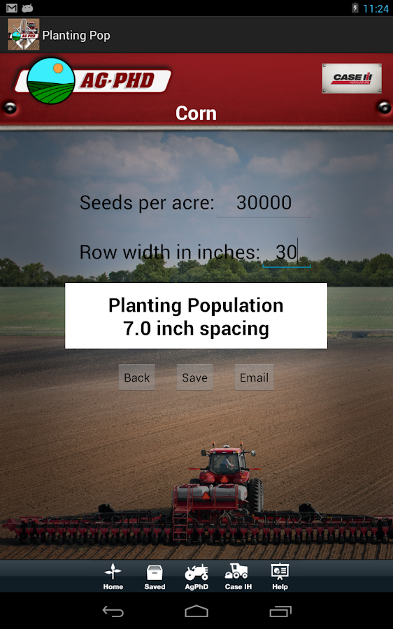 Planting Population Calculator - screenshot