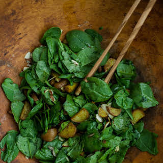 Curried Red Potato Spinach Salad.