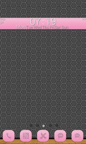 GLX Themes: Simplex Light Pink Screenshot