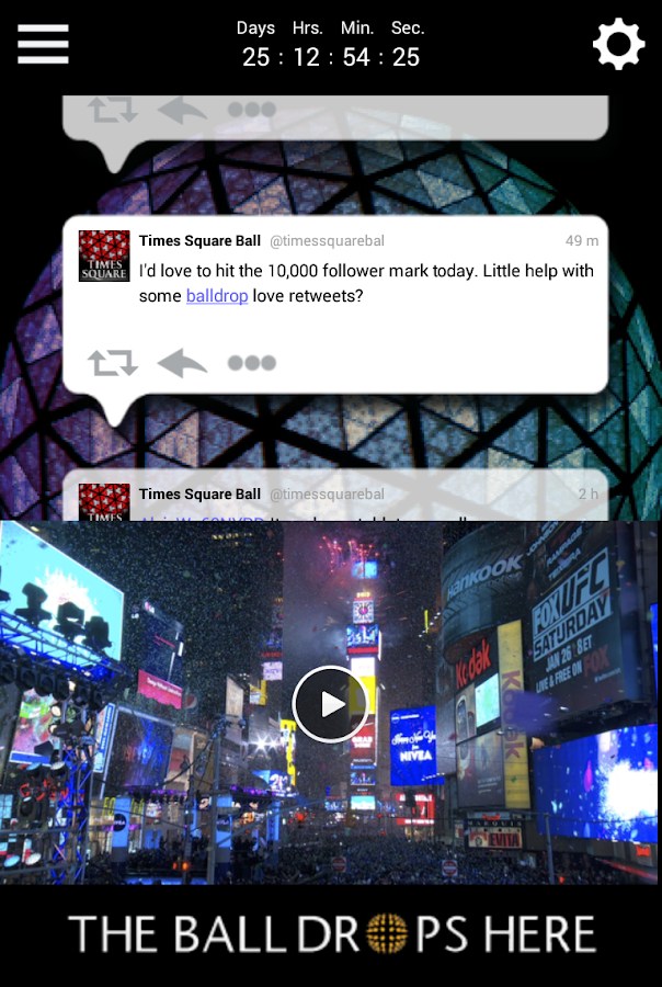 Times Square Official Ball App- screenshot
