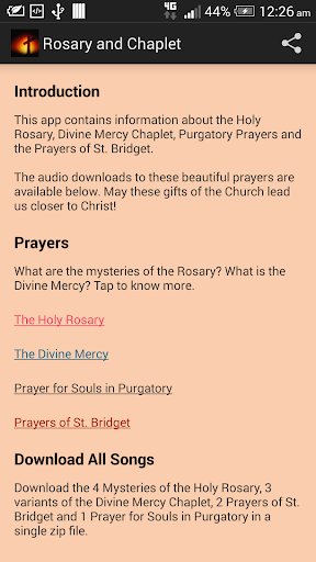 Rosary and Divine Mercy Songs