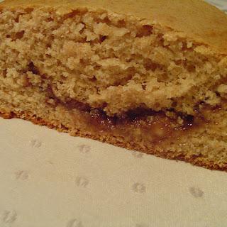 Light Vanilla Quickbread with Raspberry Swirl