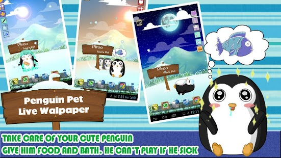 Penguin Pet Live Wallpaper
