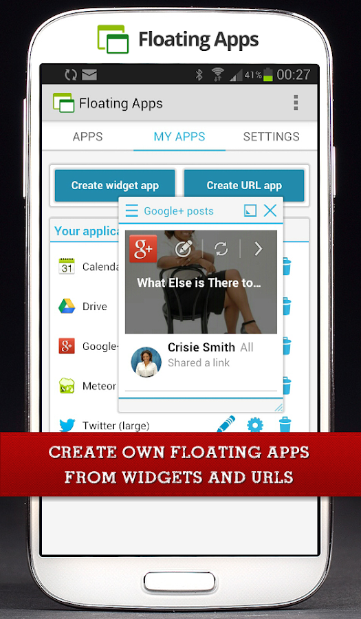 Floating Apps (multitasking) - screenshot