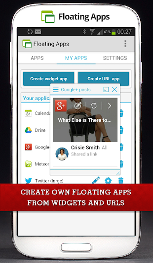 Floating Apps (multitasking)- screenshot