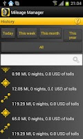 Screenshot of Mileage Manager - GPS Tracker