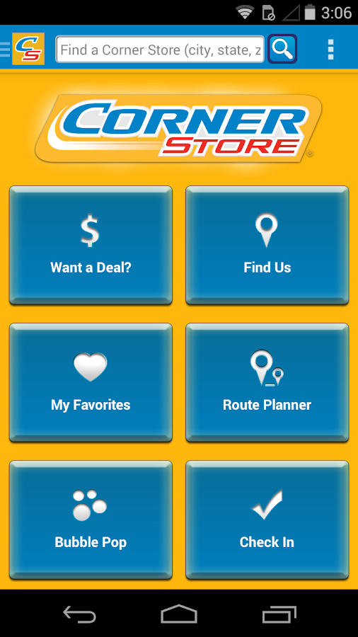 Corner Store Finder - screenshot