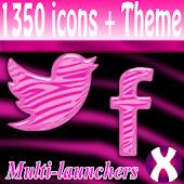 Pink Zebra Pro Launchers theme
