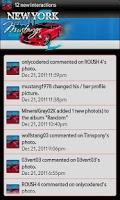 Screenshot of New York Mustangs Social Feed