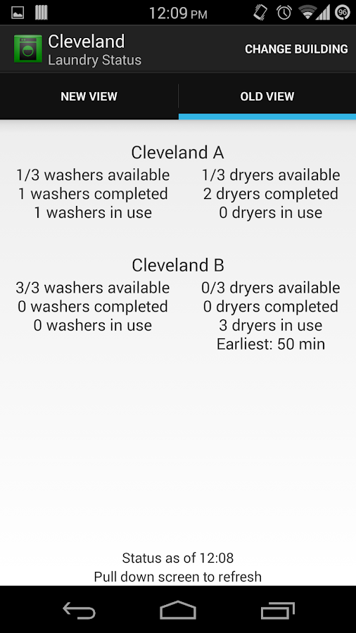 Binghamton Laundry Checker - screenshot