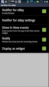 SmartWatch Notifier for eBay screenshot 0