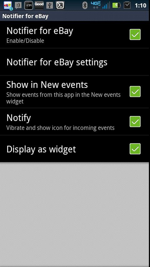 SmartWatch Notifier for eBay - screenshot