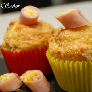 Savory Ham and Cheese Muffins.