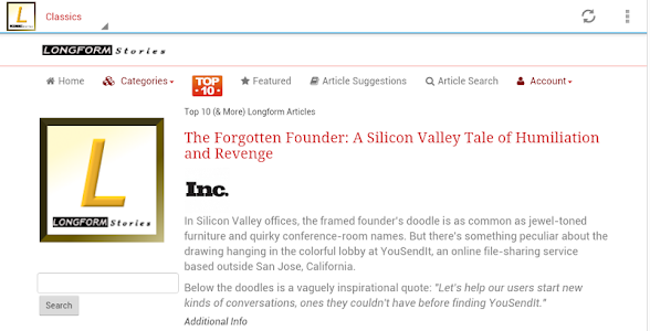 Longform Articles & Stories screenshot 9