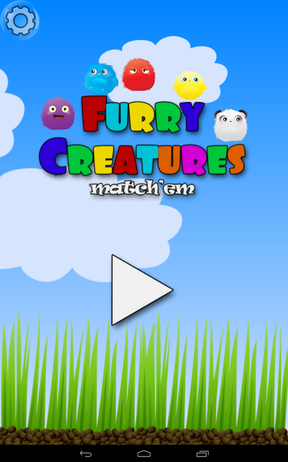 Furry Creatures match'em- screenshot