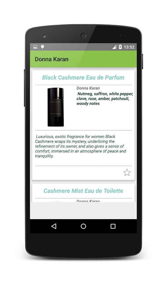 Perfume -catalog EN - screenshot