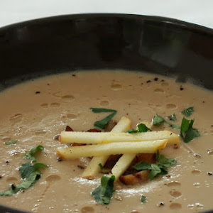 Cream of Chestnut Soup with Apple and Celery Root
