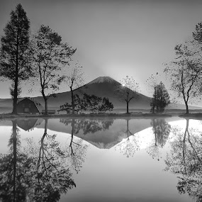 Mt.Fuji by Nurul Anwar - Black & White Landscapes