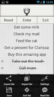 Shopping List Lite - screenshot thumbnail