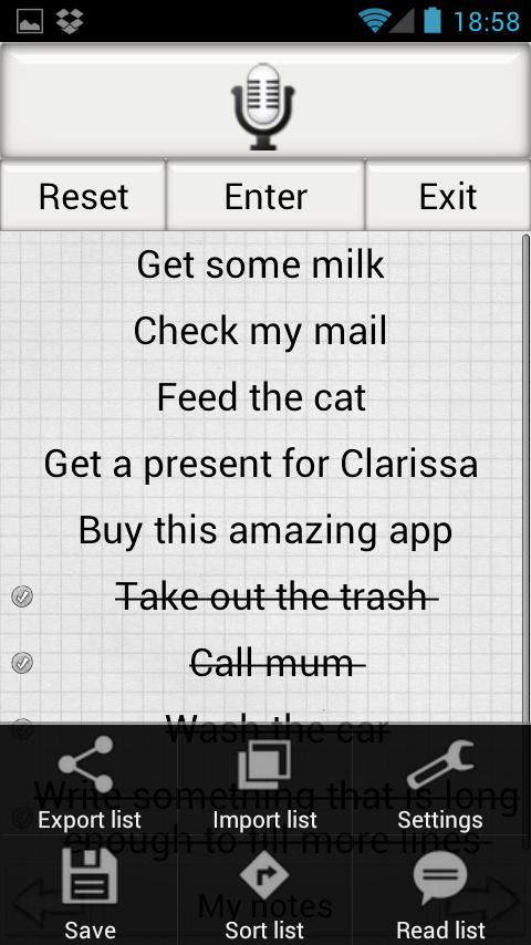 Shopping List Lite - screenshot