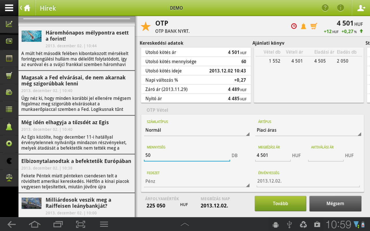 OTP SmartBroker - screenshot